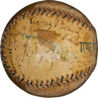 1917-19 Detroit Tigers Team Signed Baseball with Ty Cobb