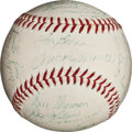 Autographs:Baseballs, 1956 New York Yankees Team Signed Baseball Once Belonging to MickeyMantle....