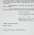 Autographs:Others, 1987 Mickey Mantle Signed Book/Movie Contract....