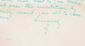Autographs:Letters, 1954 Ty Cobb Handwritten Signed Four-Page Letter To Former Teammate Archie Yelle....