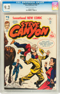 Golden Age (1938-1955):Adventure, Steve Canyon #5 (Harvey, 1948) CGC NM- 9.2 Cream to off-white pages....