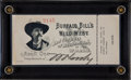 Autographs:Others, 1899 Buffalo Bill Cody Signed Show Ticket....