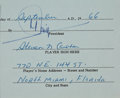 Autographs:Others, 1966-67 Steve Carlton Signed Puerto Rican League Contract....