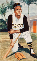 Autographs:Others, Circa 1970 Roberto Clemente Signed Print....