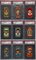 Baseball Cards:Lots, 1911 T205 Gold Border PSA EX-MT 6 Collection (9). ...