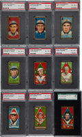 Baseball Cards:Lots, 1911 T205 Gold Border Graded EX-MT Collection (9). ...