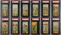 Baseball Cards:Sets, 1911 T201 Mecca Double Folders Partial Set (28/50) - #14 on the PSA Set Registry. ...
