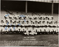 Autographs:Photos, 1953 New York Yankees Partial Team Signed Large Photograph withMantle....