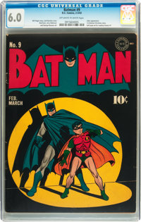 Batman #9 (DC, 1942) CGC FN 6.0 Off-white to white pages