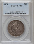 Seated Half Dollars: , 1871 50C XF45 PCGS. PCGS Population (17/102). NGC Census: (8/101).Mintage: 1,204,560. Numismedia Wsl. Price for problem fr...