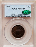 Proof Two Cent Pieces, 1872 2C PR65 Brown PCGS. CAC....