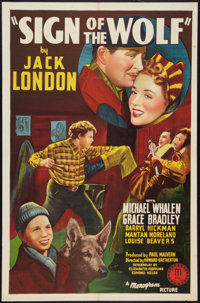 """Sign of the Wolf (Monogram, 1941). One Sheet (27"""" X 41""""). Adventure"""