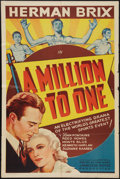 "Movie Posters:Sports, A Million to One (Puritan, 1938). One Sheet (27"" X 41""). Sports.. ..."