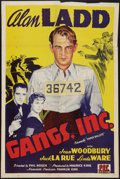 """Movie Posters:Crime, Paper Bullets (PRC, R-1943). One Sheet (27"""" X 41""""). Reissued as """"Gangs, Inc."""" Crime.. ..."""