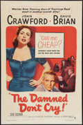 """Movie Posters:Film Noir, The Damned Don't Cry (Warner Brothers, 1950). One Sheet (27"""" X 41""""). Film Noir.. ..."""