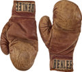 "Boxing Collectibles:Memorabilia, 1953 Carl ""Bobo"" Olson Boxing Gloves Worn in World MiddleweightChampionship-Winning Fight...."