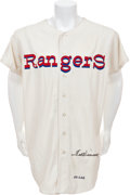 Baseball Collectibles:Uniforms, 1971-72 Ted Williams Game Worn Texas Rangers Jersey....