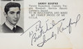 Autographs:Others, 1953 Sandy Koufax Signed High School Yearbook....