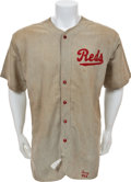 Baseball Collectibles:Uniforms, 1936 Benny Frey Game Worn Cincinnati Reds Jersey with Pants....