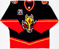 Hockey Collectibles:Uniforms, 2005-06 Steve Montador Game Issued Calgary Flames Jersey....