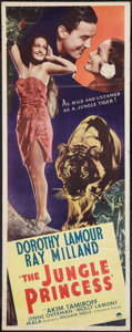 "Movie Posters:Adventure, The Jungle Princess (Paramount, R-1946). Insert (14"" X 36"").Adventure.. ..."