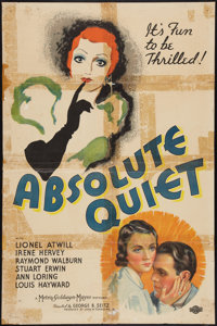 """Absolute Quiet (MGM, 1936). One Sheet (27"""" X 41""""). Drama"""