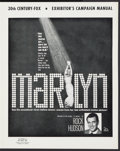 "Movie Posters:Documentary, Marilyn (20th Century Fox, 1963). Uncut Pressbook (8 Pages, 13"" X 16.5""). Documentary.. ..."