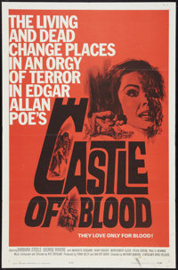 """Castle of Blood (Woolner Brothers, 1964). One Sheet (27"""" X 41""""). Horror"""