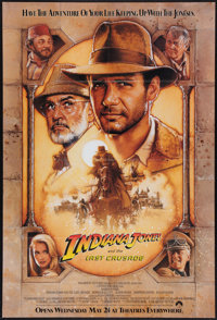 """Indiana Jones and the Last Crusade (Paramount, 1989). One Sheet (27"""" X 40""""). Advance. Action"""