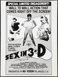 "Sex in 3-D and Other Lot (Great American Soap Opera Co., 1984). Poster (30"" X 40"") and One Sheet (27"" X 4..."