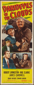 """Movie Posters:Drama, Daredevils of the Clouds & Other Lot (Republic, 1948). Insert (14"""" X 36"""") & One Sheet (27"""" X 41""""). Drama.. ... (Total: 2 Items)"""