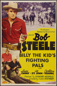 """Billy the Kid's Fighting Pals (PRC, 1941). One Sheet (27"""" X 41""""). Western"""