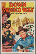 """Movie Posters:Western, Down Mexico Way (Republic, 1941). One Sheet (27"""" X 41""""). Western.. ..."""