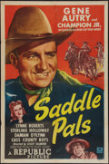 """Movie Posters:Western, Saddle Pals (Republic, 1947). One Sheet (27"""" X 41""""). Western.. ..."""