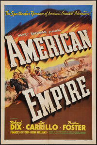 """American Empire (United Artists, 1942). One Sheet (27"""" X 41"""") Style A. Western"""