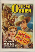 "Movie Posters:Western, The Marshal of Mesa City (RKO, 1939). One Sheet (27"" X 41""). Western.. ..."