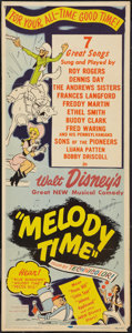 "Movie Posters:Animated, Melody Time (RKO, 1948). Insert (14"" X 36""). Animated.. ..."