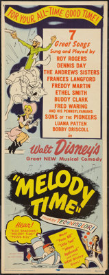 """Melody Time (RKO, 1948). Insert (14"""" X 36""""). Animated"""