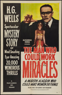 """The Man Who Could Work Miracles (Film Classics, R-1947). One Sheet (27"""" X 41""""). Fantasy"""