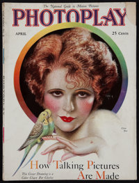 """Photoplay (Photoplay Publishing Company, April, 1929). Magazine (154 Pages, 8.5"""" X 11.5""""). Miscellaneous"""