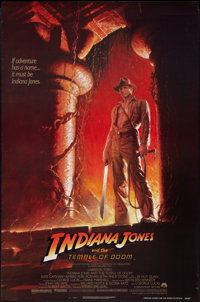 """Indiana Jones and the Temple of Doom (Paramount, 1984). One Sheet (27"""" X 41""""). Style A. Adventure"""