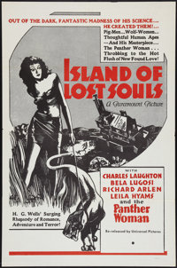 """Island of Lost Souls (Paramount, R-1958). One Sheet (27"""" X 41""""). Horror"""