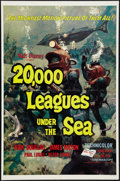 """Movie Posters:Science Fiction, 20,000 Leagues Under the Sea (Buena Vista, R-1963). One Sheet (27""""X 41"""") Style A. Science Fiction.. ..."""