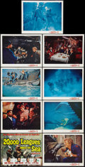 """Movie Posters:Science Fiction, 20,000 Leagues Under the Sea (Buena Vista, R-1963). Lobby Card Set of 9 (11"""" X 14""""). Science Fiction.. ... (Total: 9 Items)"""