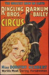 """Ringling Brothers Circus Poster (Ringling Bros., 1934). Poster (25"""" X 38""""). Miscellaneous"""