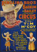 "Movie Posters:Western, Tim McCoy / Ringling Bros. Barnum and Bailey Circus Poster(Ringling Bros, 1937). Poster (18"" X 25.5""). Western.. ..."