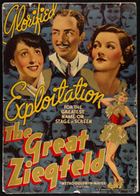 "The Great Ziegfeld (MGM, 1936). Special Road-Show Promotions Pressbook (26 Pages, 14"" X 20""). Musical"