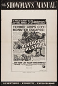 "Movie Posters:Horror, Revenge of the Creature (Universal International, 1955). UncutPressbook (10 Pages, 12"" X 18""). Horror.. ..."
