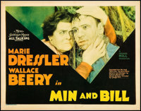 """Min and Bill (MGM, 1930). Title Lobby Card (11"""" X 14""""). Comedy"""