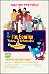 "Yellow Submarine (United Artists, 1968). One Sheet (27"" X 41""). Animation"